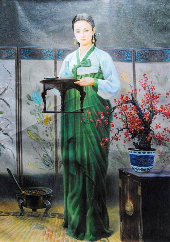 朝鲜油画里的美女们 知乎精选 第9张