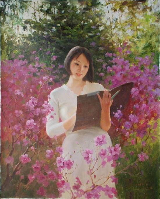 朝鲜油画里的美女们 知乎精选 第10张