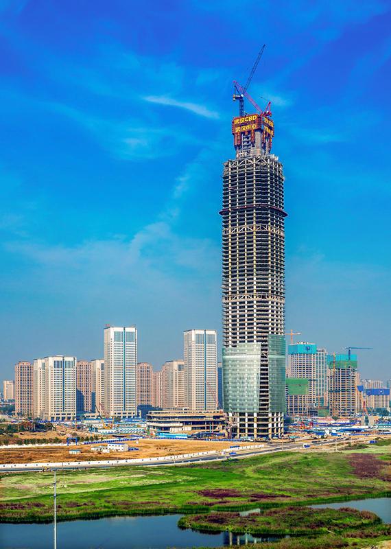 438米华中第一高楼今封顶