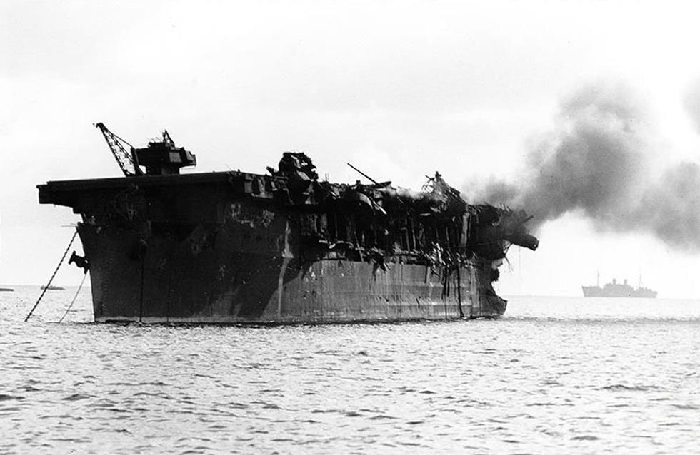 海底沉睡64年的而战航母