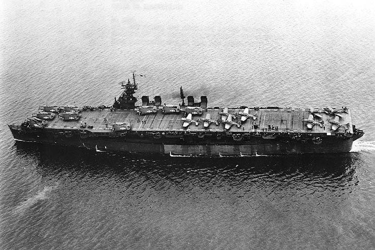 海底沉睡64年的二战航母