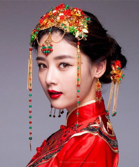 中式新娘发型图片 感受端庄典雅的古典美_风尚大明星图片