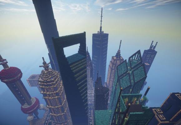 我的世界 建筑大赛 牛人完美还原君临城图片