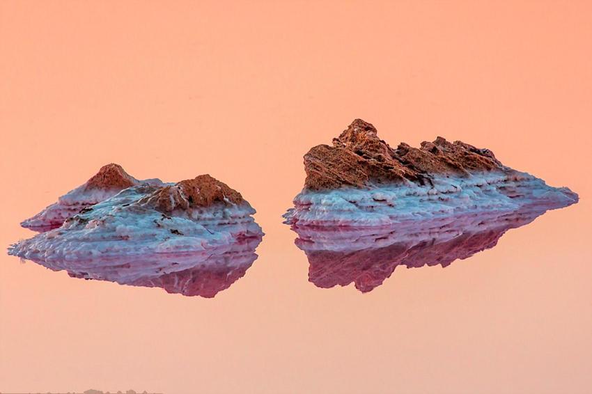 克里米亚粉色盐湖如火星奇境 - 海阔山遥 - .