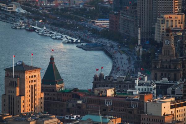上海,浦西外滩万国建筑群.