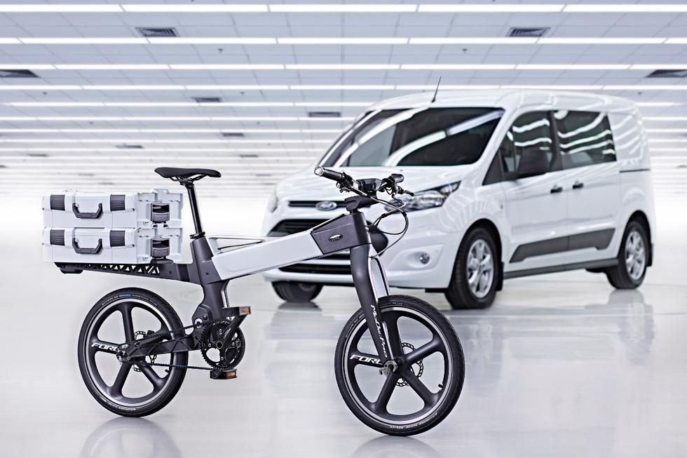 与汽车无缝对接 揭秘福特智能电动自行车高清图片