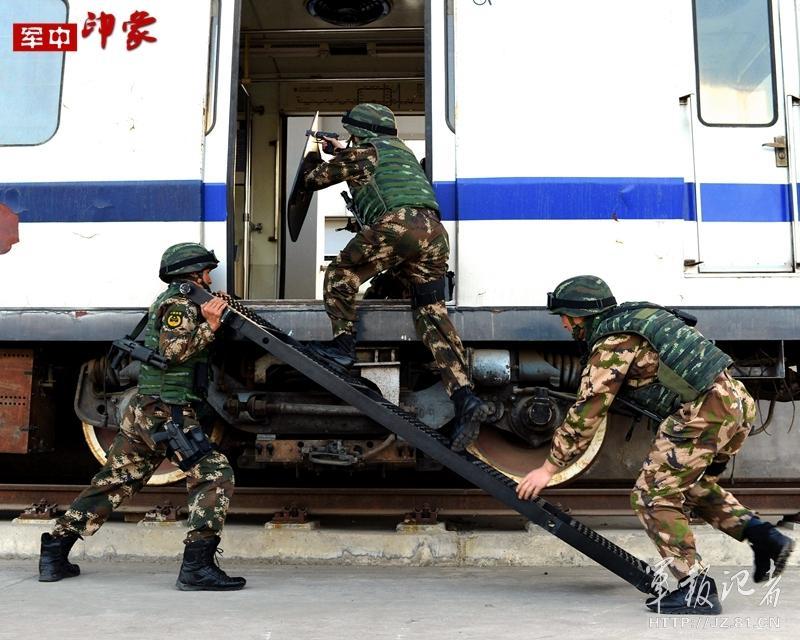 中央军委主席习近平视察了中国人民武装警察部队特种警察学院并为图片