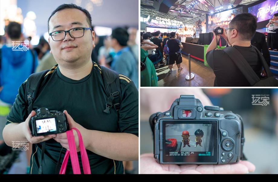 虽然喜欢游戏很多年,但今年是他第一次到CJ现场.罗臻哲的镜头主