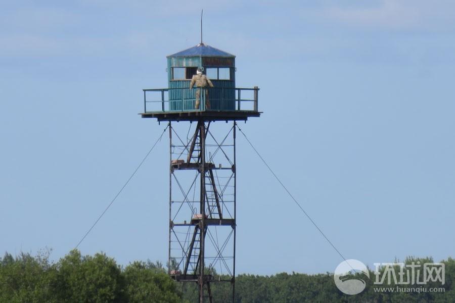 中俄边境俄军哨所站的是稻草人 - 海阔山遥 - .