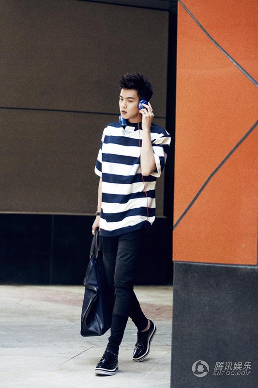在昨晚播出的《快乐大本营》中,张若昀作为80后美男队的一员上演