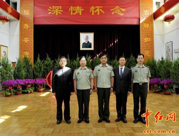 武警部队司令员王宁上将(左3)、政治委员孙思敬上将(左2)、张图片