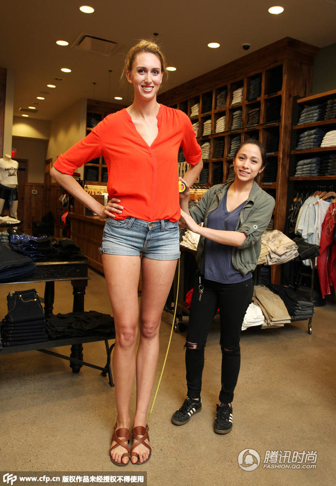 美国模特刷新大长腿记录 腿长124厘米太逆天