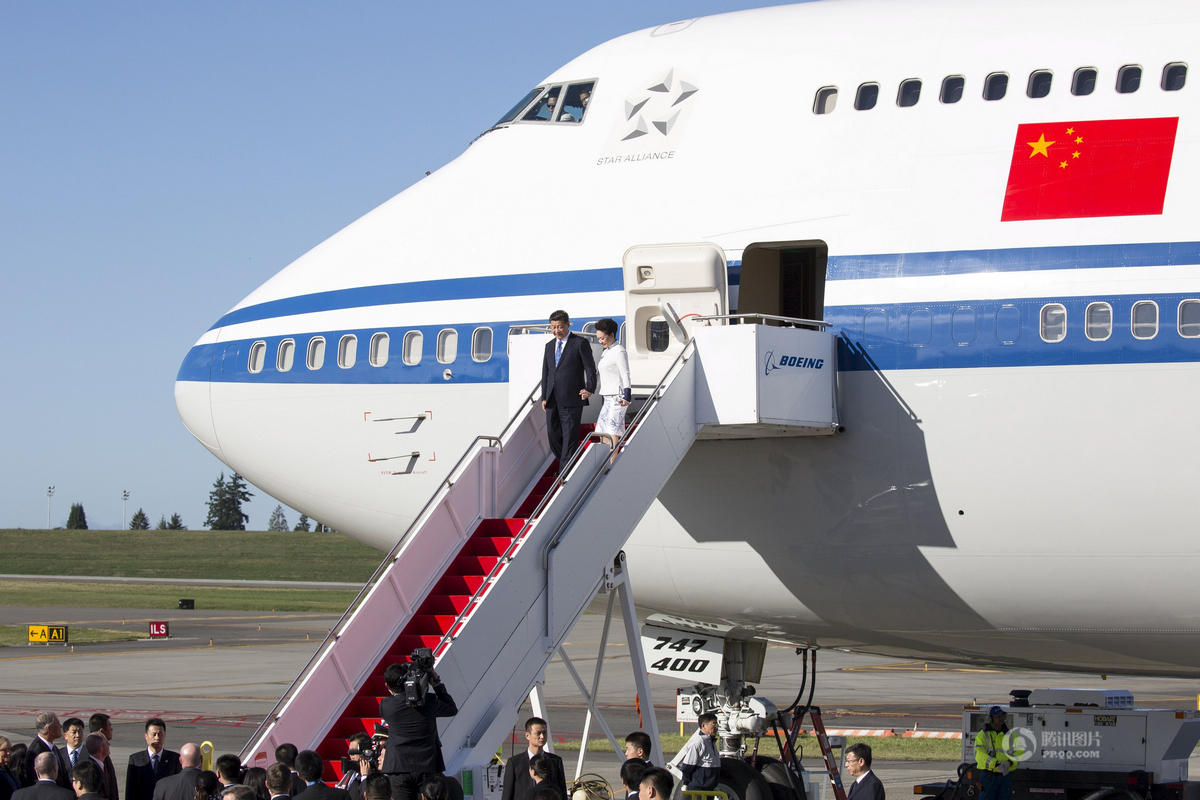 习近平抵达西雅图开始对美国进行国事访问 - 海阔山遥 - .