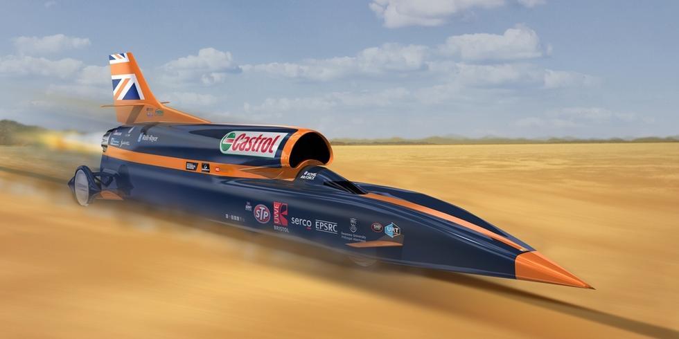 "dhound SSC是一款汽车,但其设计已经可以称作是""陆上火箭"".图片"