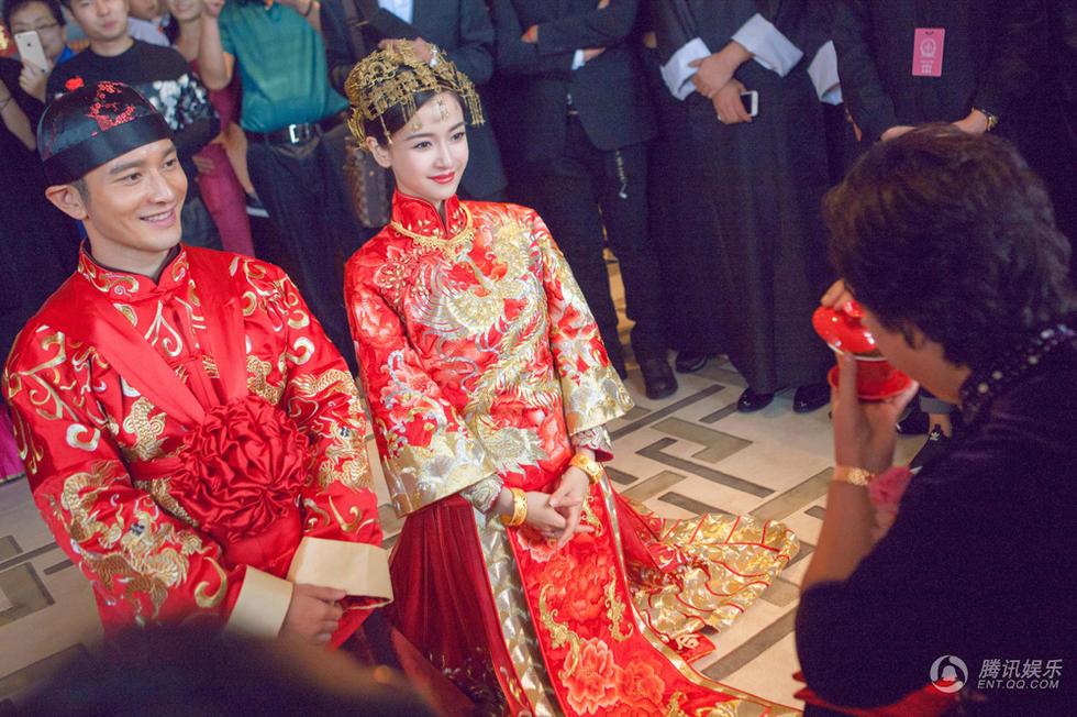 黄晓明baby举行中式婚礼仪式图片