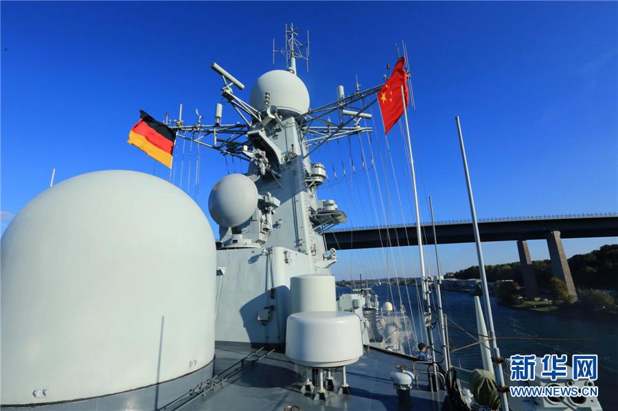 组图:中国海军舰艇首次通过基尔运河 - 海阔山遥 - .