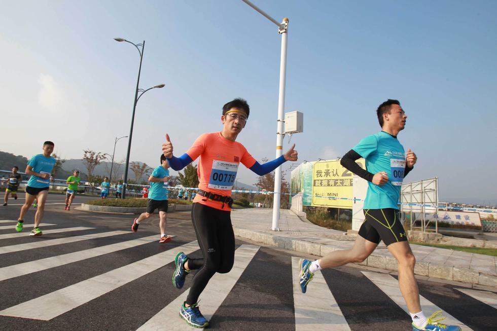 高清 2015太湖图影国际半程马拉松完美落幕