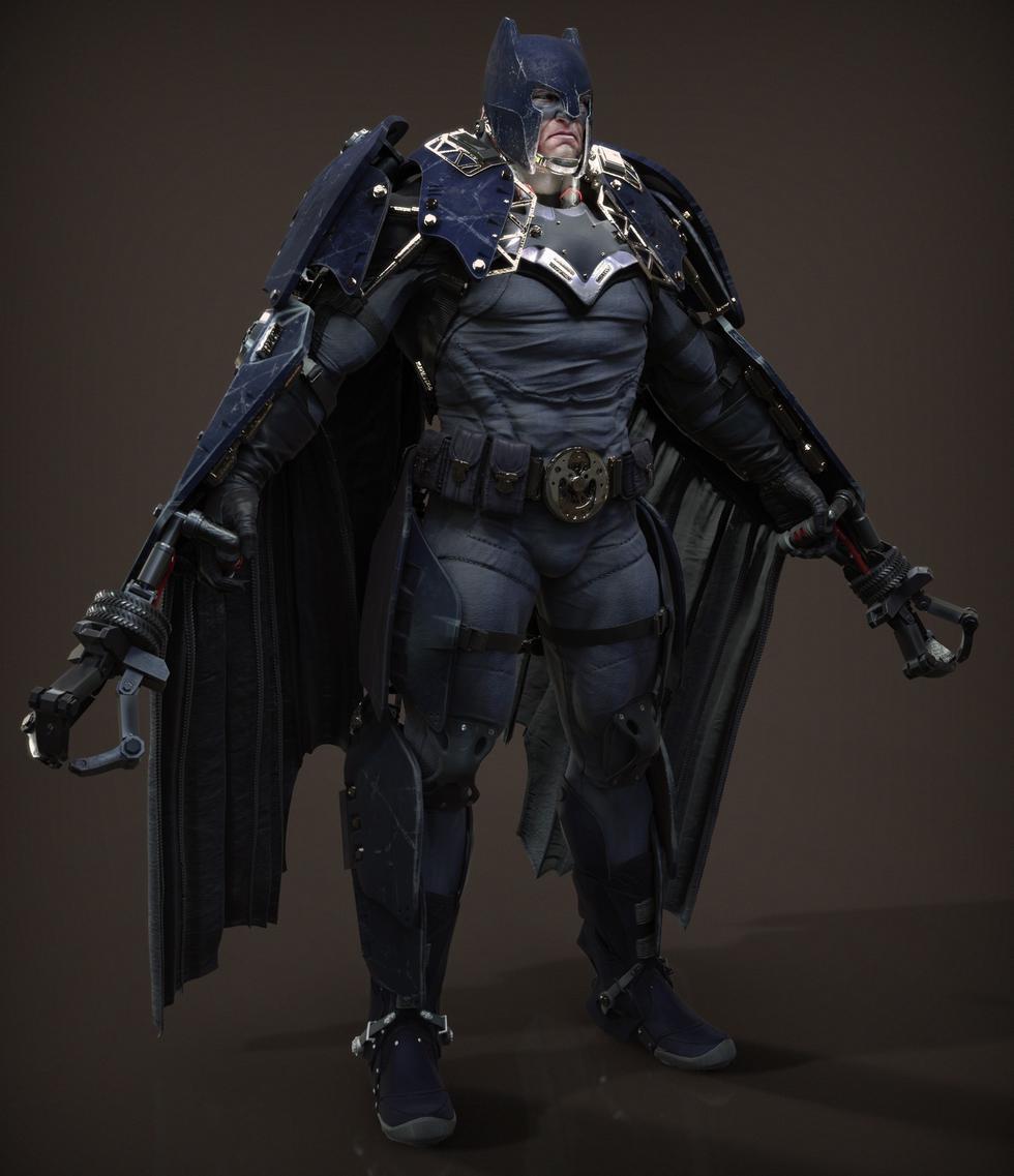 育碧画师创作精选:不倒翁版蝙蝠侠图片