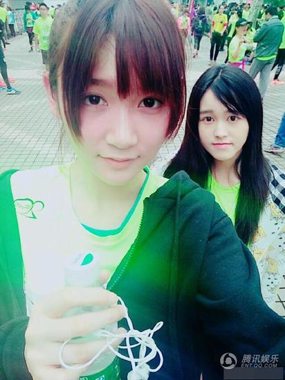 SNH48参加上海马拉松赛 素颜出镜被指美丽依旧