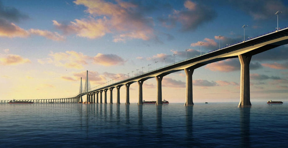 【艺术摄影】珠港澳大桥.这座长达50千米的跨海大桥将取代胶州湾跨