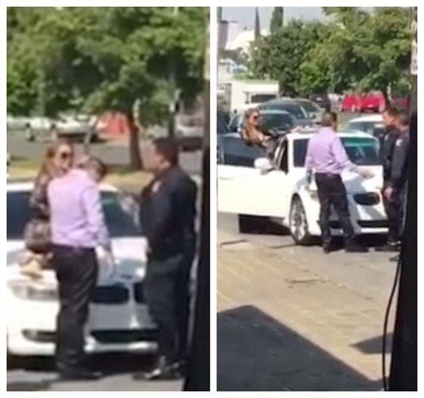 墨西哥女子坐宝马前盖上 怒抽小三耳光图片