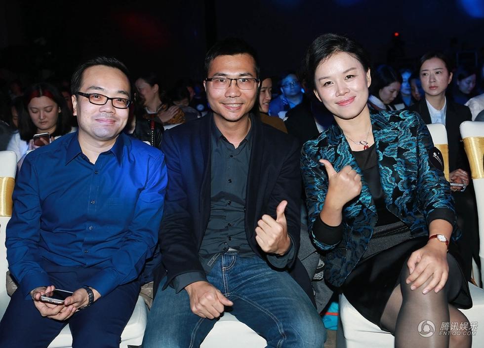 腾讯网副总编辑杨瑞春与到场嘉宾.