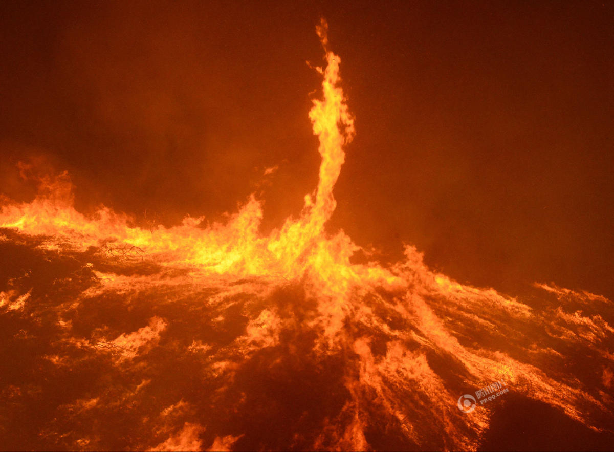 """美国加州发生森林大火 强风助阵现""""火龙卷"""" - syg435896545 - syg435896545的博客"""