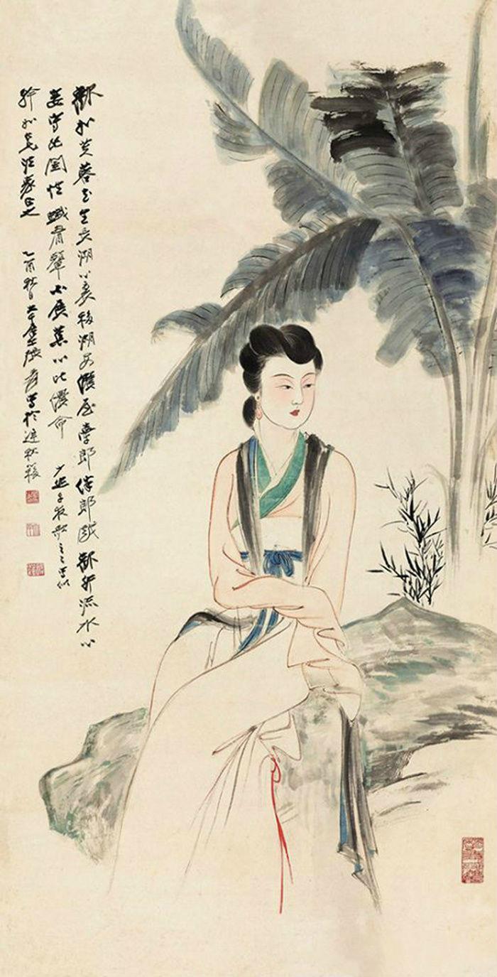 """文彩媛穿着束身短裙,在男人中间绽放""""光艳的美貌"""""""