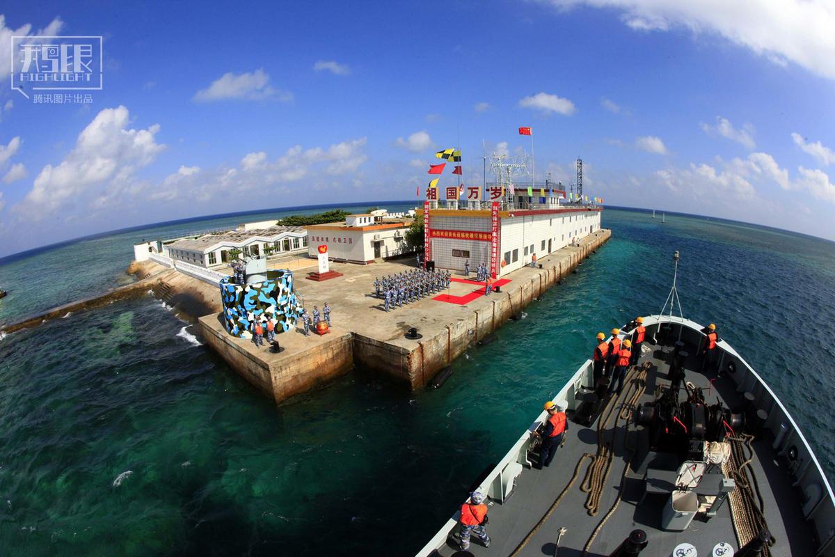 将数百万吨的淡?-南沙永暑礁填海造陆记