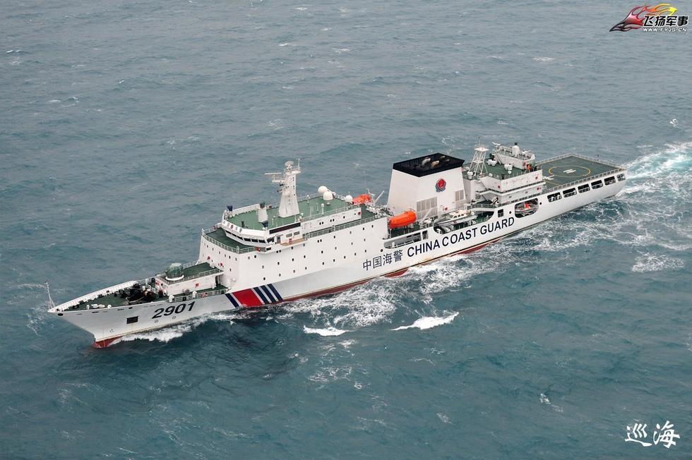组图:中国万吨海警船巡航航拍照曝光 - 海阔山遥 - .
