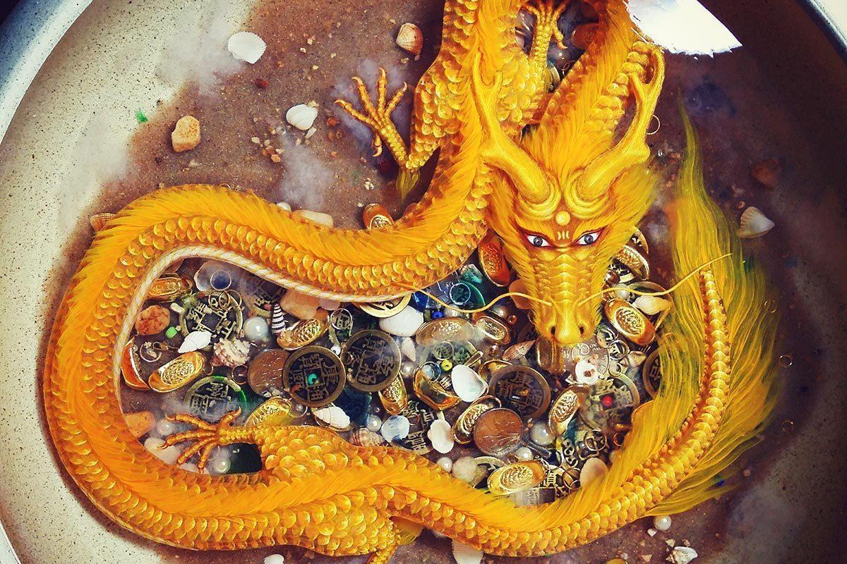 画蛇水彩画图片