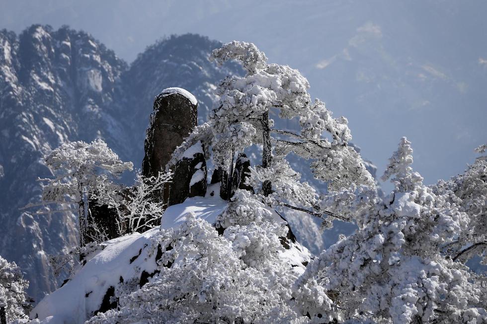 安徽黄山降雪达40厘米 美若童话世界 - 海阔山遥 - .