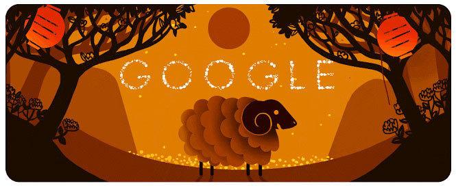 2015年是中国羊年,谷歌制作了一个动画。
