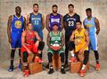 组图:全明星单项赛球员写真 拉文戈登共举杯