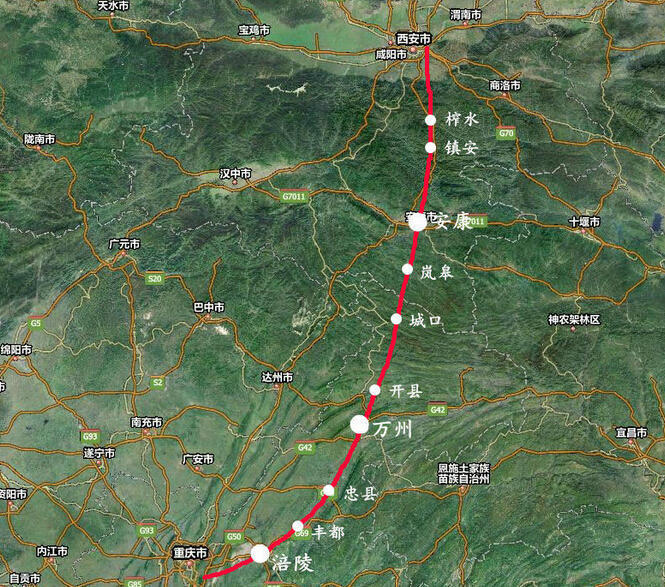 西安高铁2小时到重庆 沿途一路都是美景 - 海阔山遥 - .