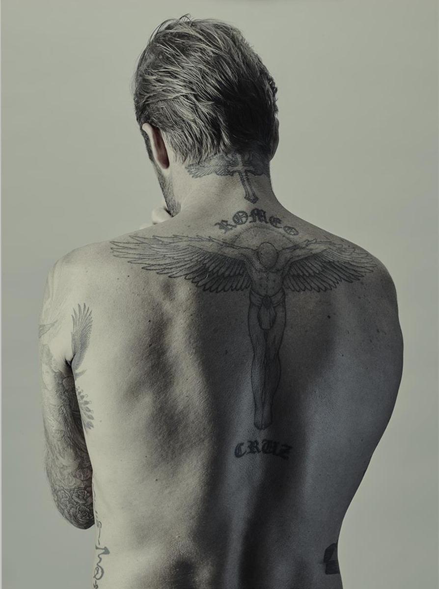 近距离看小贝身上的纹身,你知道都代表啥吗?