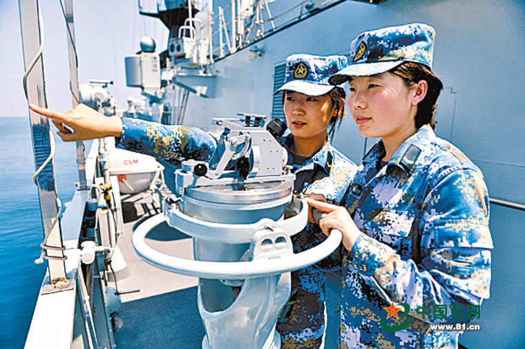 组图:中国女战士的妇女节 玫瑰依然在征途绽放 - 海阔山遥 - .