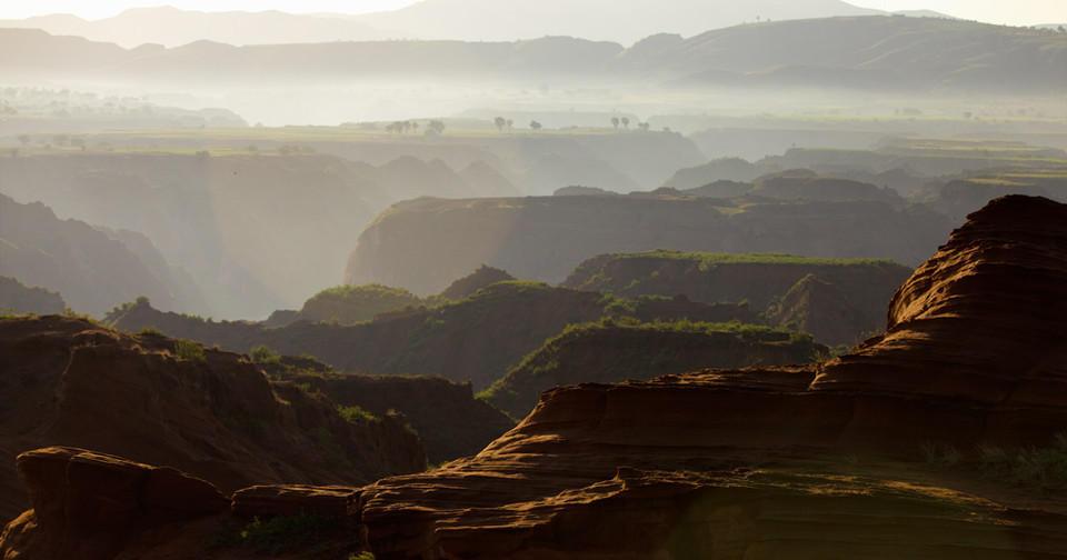 黄土高原沟豁风光 最文艺的陕北美景