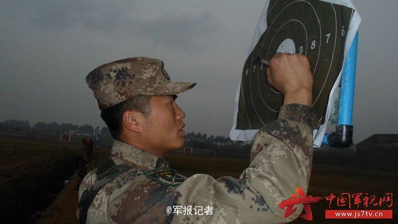 解放军战士验收靶纸-解放军桂北某地极限体能大比武