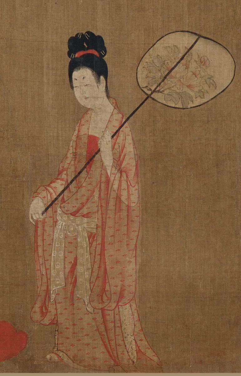 《簪花仕女图》是全世界范围内唯一认定的唐代仕女画传世孤本.-唐图片