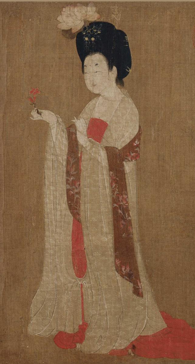 很高,是典型的唐代仕女画标本型作品,能代表唐代现实主义风格的图片
