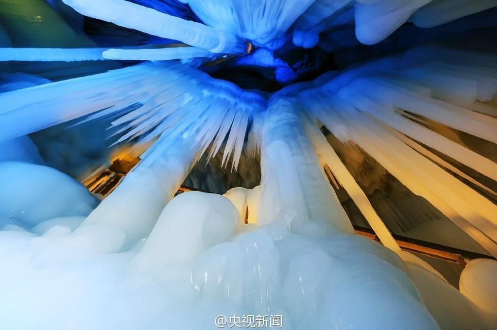 """山西芦芽山""""万年冰洞""""美如童话世界 - 海阔山遥 - ."""