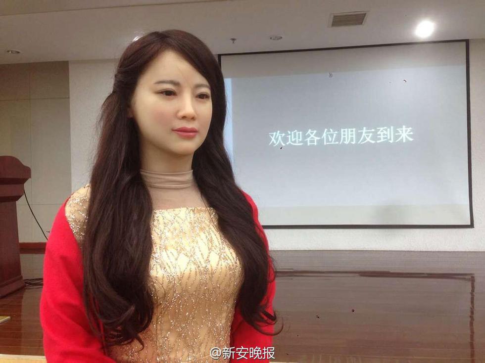 中国首台特有体验交互机器人问世 - 海阔山遥 - .