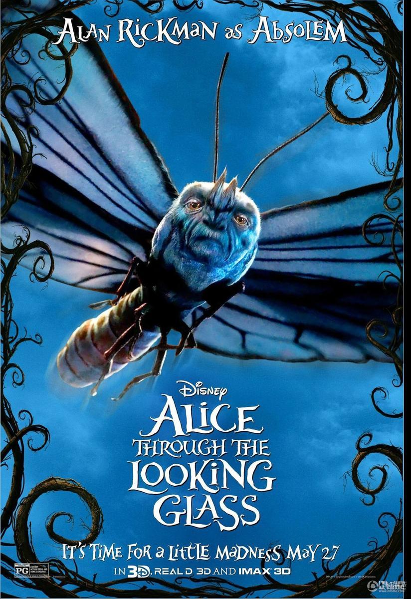 爱丽丝梦游仙境2 人物海报全曝光 来认是谁图片