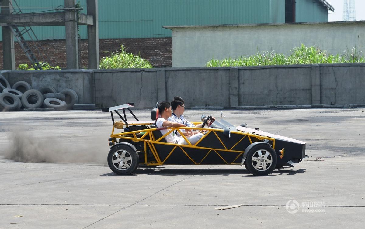 """农民21天造出""""原子跑车"""" 最高时速145公里 - 海阔山遥 - ."""