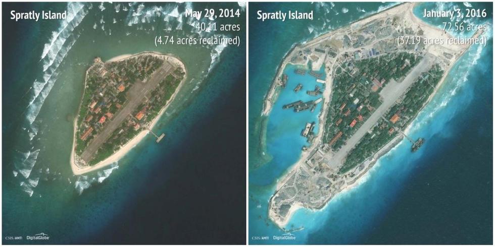 南沙群岛最新填海囹�a_越南正推进在南海的南沙群岛非法填海造岛.