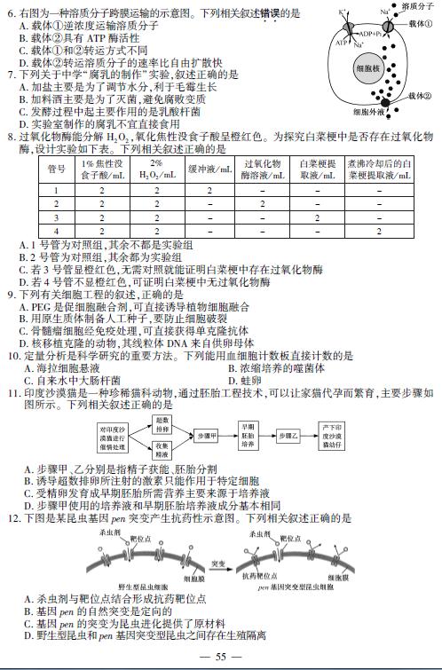 2016年高考试题与参考答案56