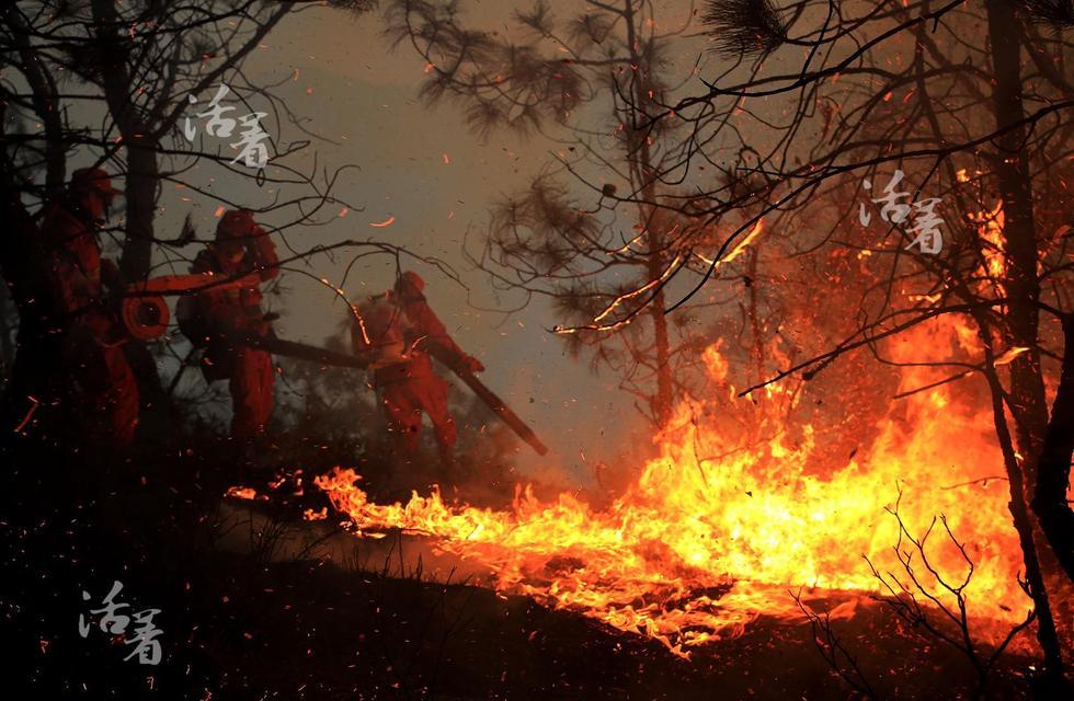 200名官兵在熊熊烈火中舍生忘死鏖战8个昼夜,将大火扑灭.木阿诺