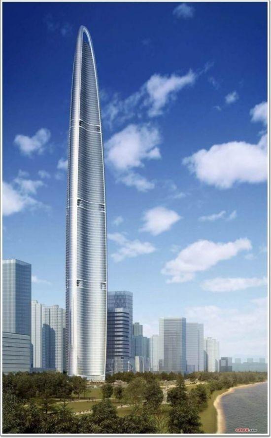 武汉绿地中心,楼高636米,共125层,计划2017年完工.-2020年世界