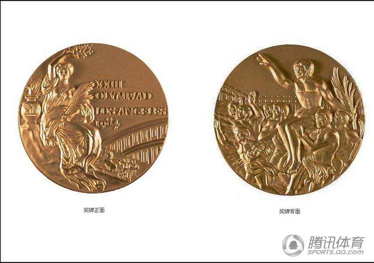 1984年洛杉矶夏季奥运会奖牌奖牌采用佛罗伦萨艺术家朱塞比-卡西奥